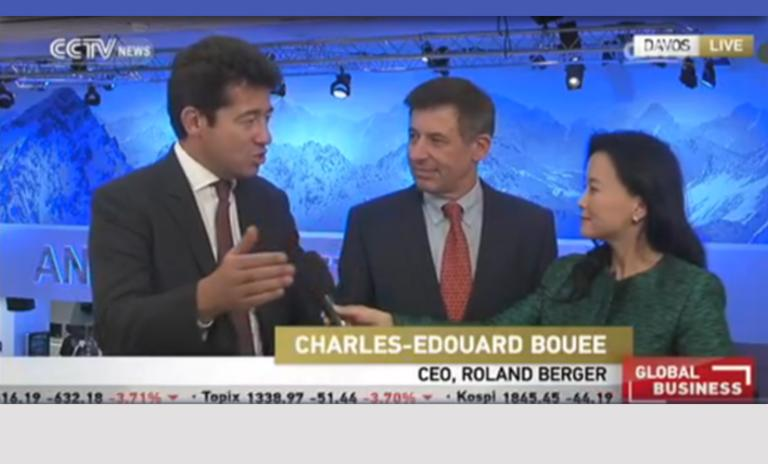Roland Berger CEO Charles-Edouard Bouée interviewed on CCTV