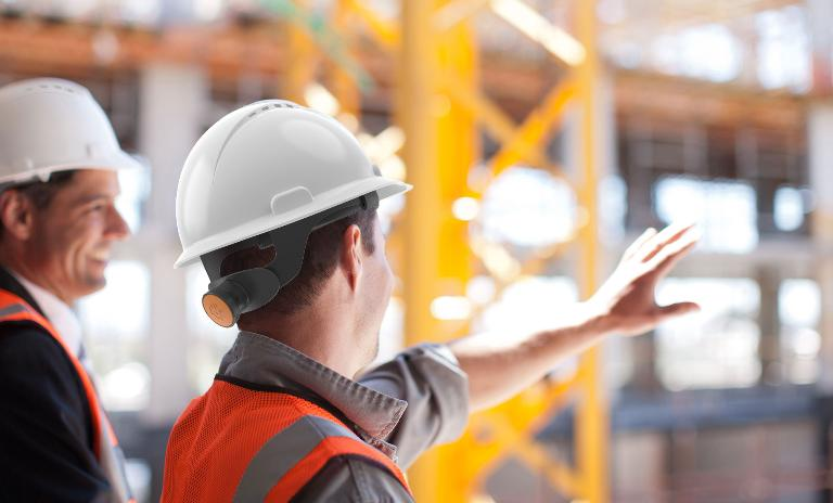 IoT on construction-site: Helmets help to manage construction-sites better.