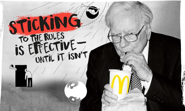 """Warren Buffett is known for breaking with billionaire convention. The famously frugal """"Oracle of Omaha"""" admits to """"eating like a six-year-old"""" and always adheres to one rule: He never pays more than $3.17 for his daily breakfast from McDonalds."""
