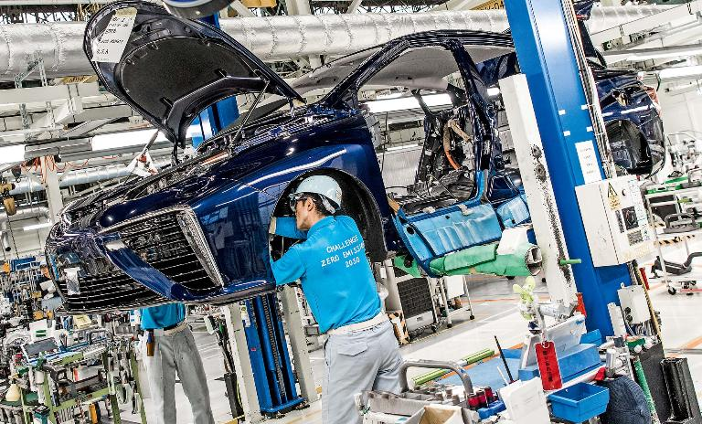 Focusing on human skills: The Motomachi Plant focuses on manual labor on the Mirai production line and serves as a training facility for Toyota employees worldwide.