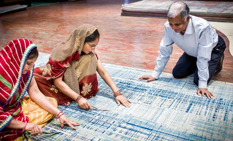 Woven into the fabric: Whatever the design, each Jaipur Rugs product represents a fusion of contemporary approaches to social change and traditional hand-knotted artistry.
