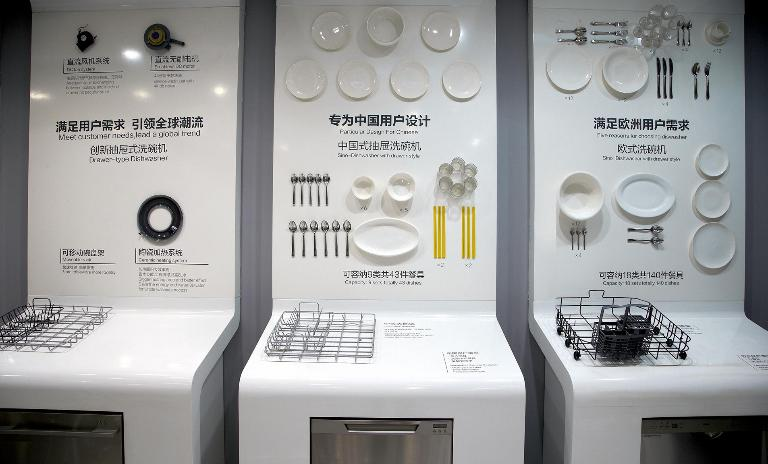 Plates and spoons - vary from one country to another. Haier´s range of dishwashers adapts to this. The one in the middle has specially developed for the Chinese market.