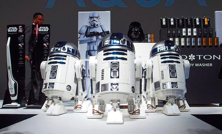 Haier premieres its R2-D2 refrigerator on October 29, 2015 in Tokyo, Japan.