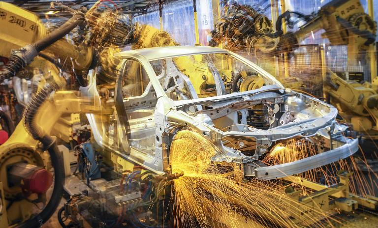 Car on production line