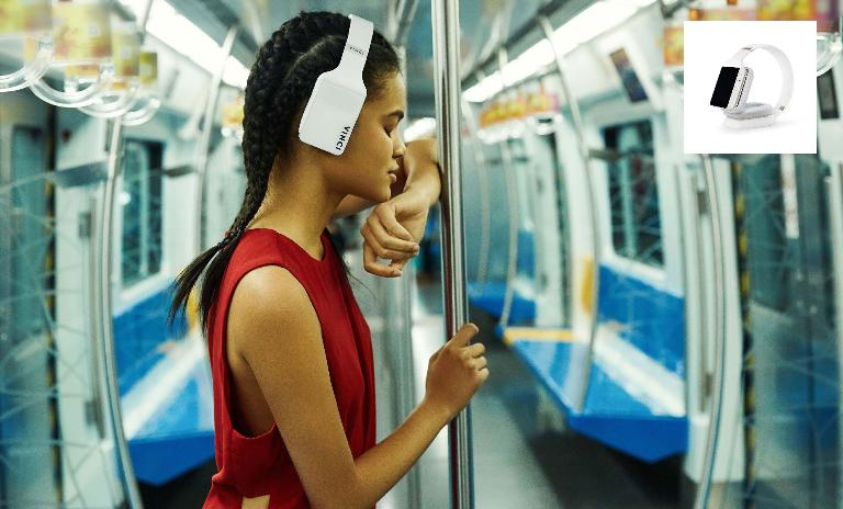 The newly launched smart headphone applying the idea of 'working out without a phone' (Vinci's official website)